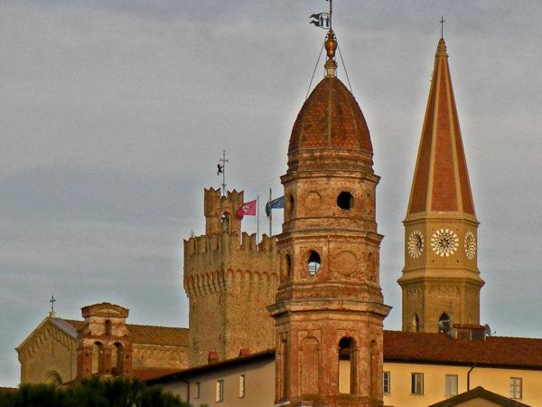 il centro storico di arezzo